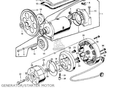 Kawasaki Z1 B 1975 Usa Generator starter Motor