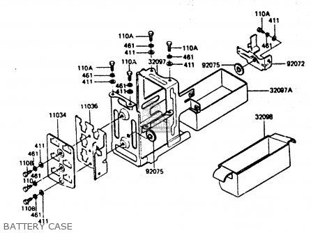 Kawasaki Z1000r2 1983 Europe Uk It Nr Sd St Battery Case