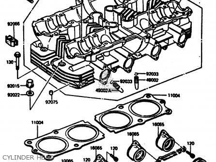 Kawasaki Z1000r2 1983 Europe Uk It Nr Sd St Cylinder Head