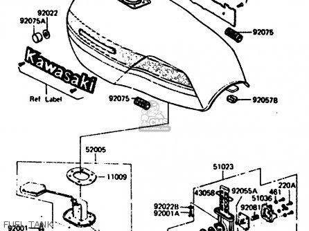 Kawasaki Z1000r2 1983 Europe Uk It Nr Sd St Fuel Tank