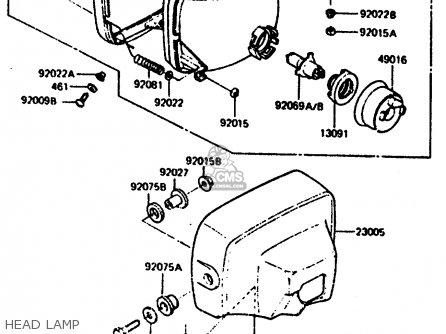 Kawasaki Z1000r2 1983 Europe Uk It Nr Sd St Head Lamp
