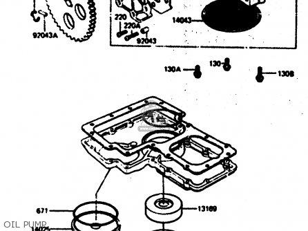 Kawasaki Z1000r2 1983 Europe Uk It Nr Sd St Oil Pump