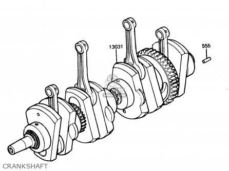 Kawasaki Z1100r1 1984 Europe Uk Nr Crankshaft