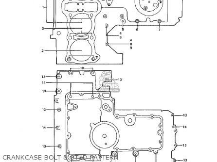 Kawasaki Z1b 1975 Usa Canada Crankcase Bolt  Stud Pattern