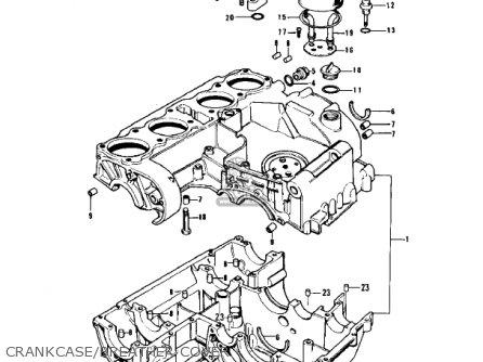 Kawasaki Z1b 1975 Usa Canada Crankcase breather Cover