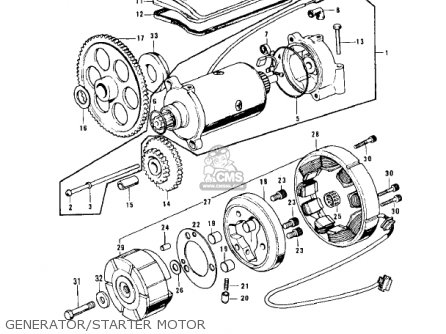 Kawasaki Z1b 1975 Usa Canada Generator starter Motor