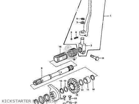 Kawasaki Z1b 1975 Usa Canada Kickstarter Mechanism