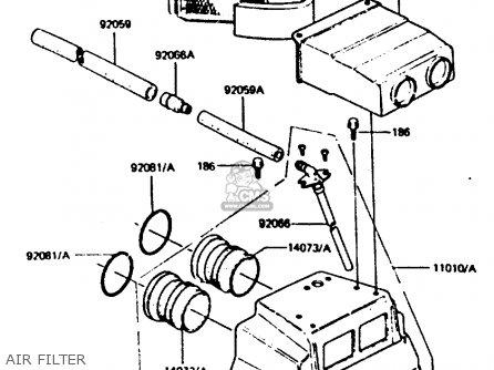 Kawasaki Z440d6 1984 Europe Uk Sd Wg Air Filter