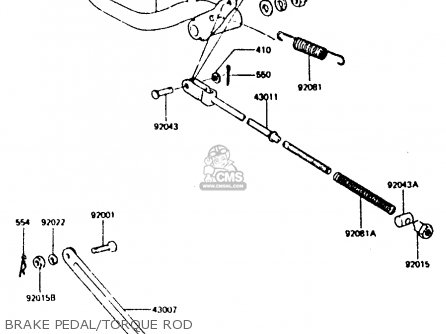 Kawasaki Z440d6 1984 Europe Uk Sd Wg Brake Pedal torque Rod