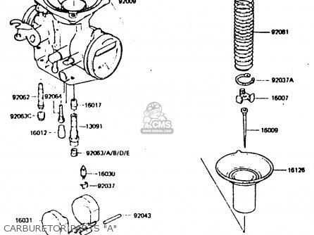 Kawasaki Z440d6 1984 Europe Uk Sd Wg Carburetor Parts a