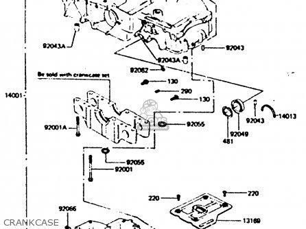 Kawasaki Z440d6 1984 Europe Uk Sd Wg Crankcase