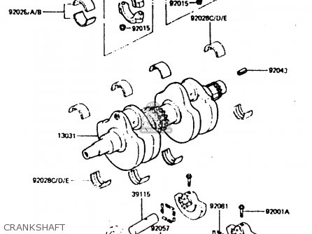 Kawasaki Z440d6 1984 Europe Uk Sd Wg Crankshaft