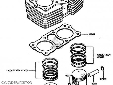 Kawasaki Z440d6 1984 Europe Uk Sd Wg Cylinder piston