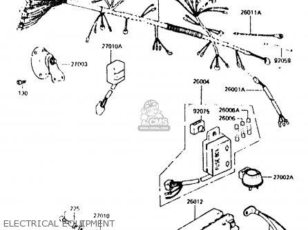 Kawasaki Z440d6 1984 Europe Uk Sd Wg Electrical Equipment