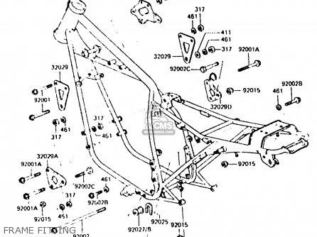 Kawasaki Z440d6 1984 Europe Uk Sd Wg Frame Fitting