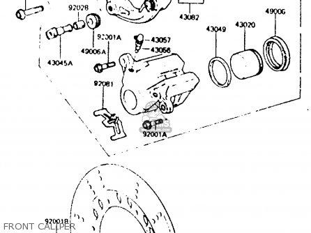 Kawasaki Z440d6 1984 Europe Uk Sd Wg Front Caliper