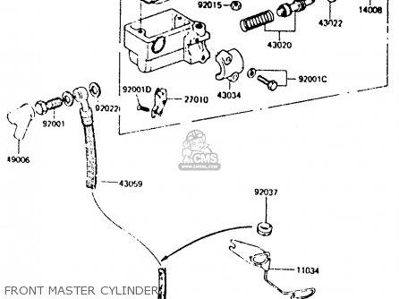Kawasaki Z440d6 1984 Europe Uk Sd Wg Front Master Cylinder