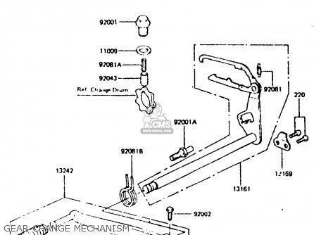 Kawasaki Z440d6 1984 Europe Uk Sd Wg Gear Change Mechanism
