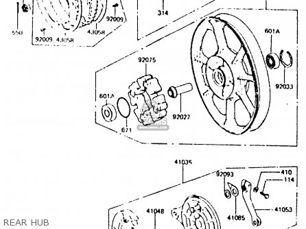 Kawasaki Z440d6 1984 Europe Uk Sd Wg Rear Hub