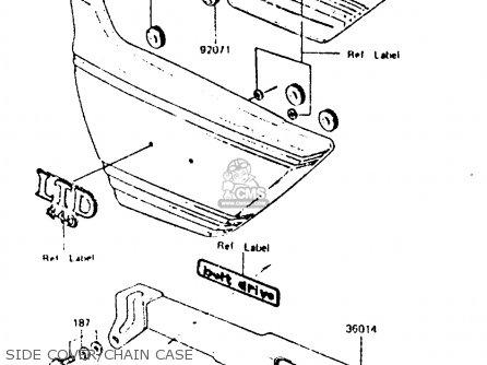 Kawasaki Z440d6 1984 Europe Uk Sd Wg Side Cover chain Case