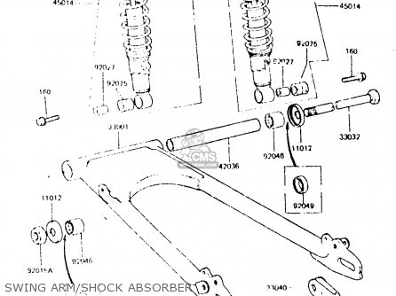Kawasaki Z440d6 1984 Europe Uk Sd Wg Swing Arm shock Absorber