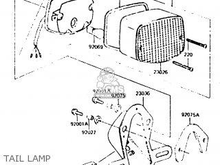 Kawasaki Z440d6 1984 Europe Uk Sd Wg Tail Lamp
