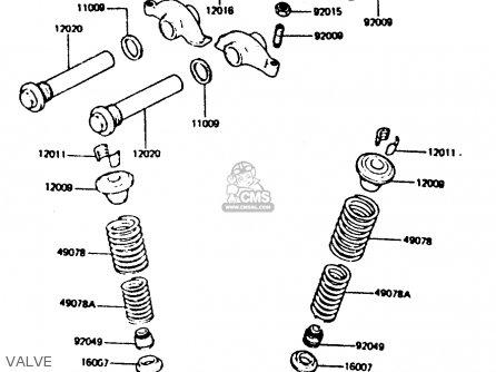 Kawasaki Z440d6 1984 Europe Uk Sd Wg Valve