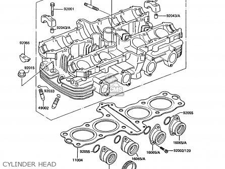CYLINDER HEAD - Z550G1 GT550 1983 EUROPE UK FR FG IT SD