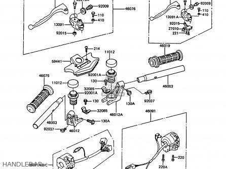 Kawasaki Z550g4 Gt550 1987 United Kingdom Fg Parts Lists And Schematics
