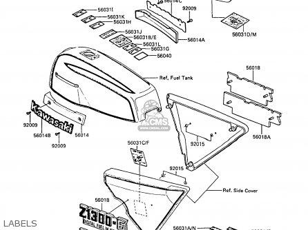 Kawasaki Zg1300a1 Z1300 1984 Europe Uk Fr Fg It Nr Sd Parts Lists