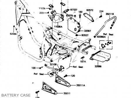 Kawasaki Zr400b1 1984 Europe Uk Fr It Wg Battery Case
