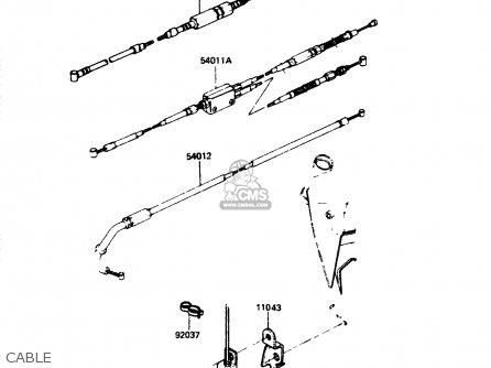 Kawasaki Zr400b1 1984 Europe Uk Fr It Wg Cable