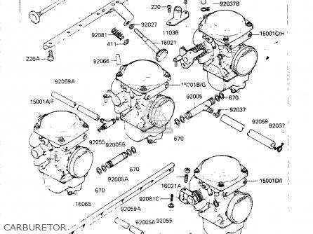Kawasaki Zr400b1 1984 Europe Uk Fr It Wg Carburetor