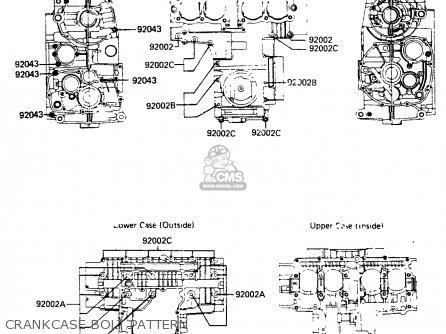 Kawasaki Zr400b1 1984 Europe Uk Fr It Wg Crankcase Bolt Pattern