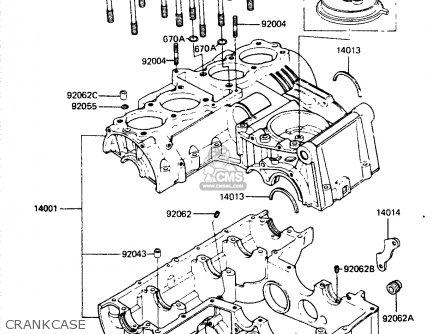 Kawasaki Zr400b1 1984 Europe Uk Fr It Wg Crankcase
