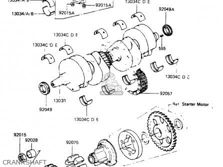 Kawasaki Zr400b1 1984 Europe Uk Fr It Wg Crankshaft