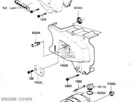 Kawasaki Zr400b1 1984 Europe Uk Fr It Wg Engine Cover