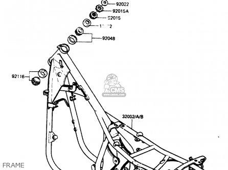 Kawasaki Zr400b1 1984 Europe Uk Fr It Wg Frame
