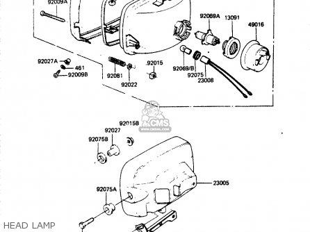 Kawasaki Zr400b1 1984 Europe Uk Fr It Wg Head Lamp