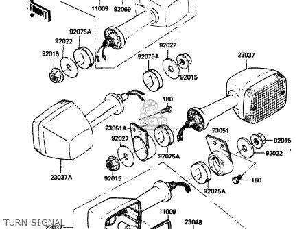 Kawasaki Zr400b1 1984 Europe Uk Fr It Wg Turn Signal