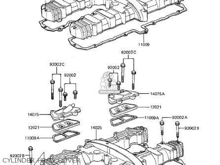 Kawasaki Zx1100a1 Gpz 1983 Usa California Canada Parts Lists And