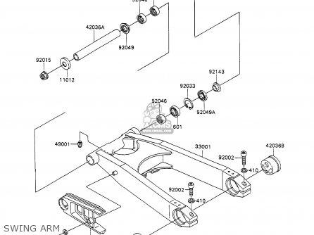 Kawasaki Zx1100c2a Zzr1100 1991 United Kingdom Fg Parts Lists And