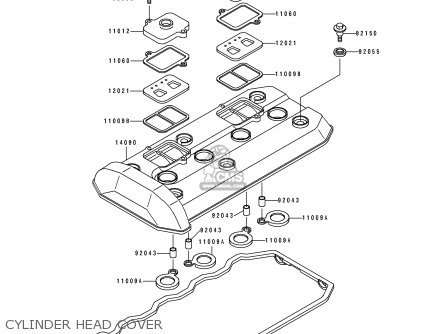 Kawasaki Zx1100e1 Gpz1100 1995 Usa California Canada Parts Lists And