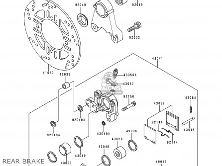 kawasaki zx1100g3 zzr1100 1999 fg parts lists and schematics  kawasaki zx1100g3 zzr1100 1999 fg rear brake
