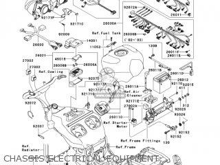 kawasaki zx1200b2 zx12r 2003 usa california canada chassis electrical  equipment