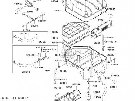 Kawasaki ZX1200C1 ZZR1200 2002 USA CALIFORNIA CANADA parts ... on