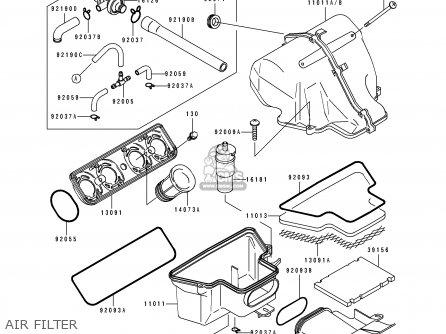 Kawasaki Zx600d2a Zzr600 1991 United Kingdom Fg Parts Lists And