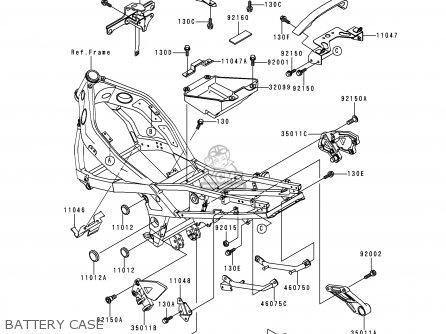 Kawasaki Zx600e4 Zzr600 1996 Europe Uk Fr Nl Fg Sp Battery Case