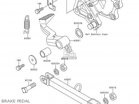 Kawasaki Zx600e4 Zzr600 1996 Europe Uk Fr Nl Fg Sp Brake Pedal