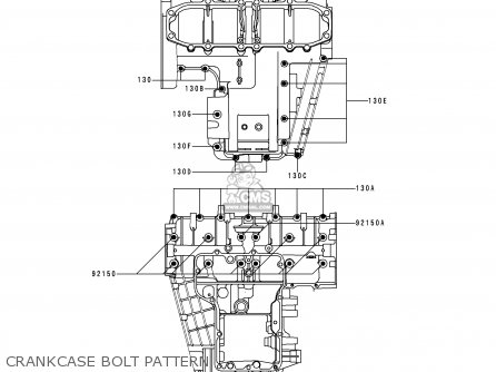 Kawasaki Zx600e4 Zzr600 1996 Europe Uk Fr Nl Fg Sp Crankcase Bolt Pattern